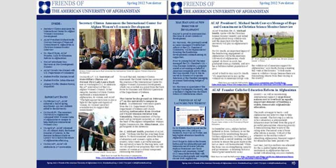 Check out our Spring 2012 Newsletter!