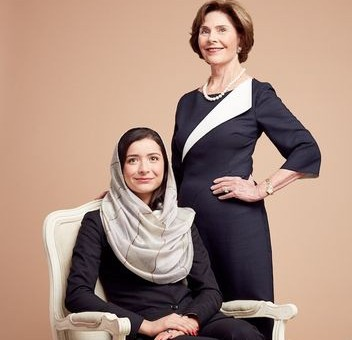 AUAF 2014 Valedictorian, Onaba Payab Featured in Glamour Magazine with Laura Bush