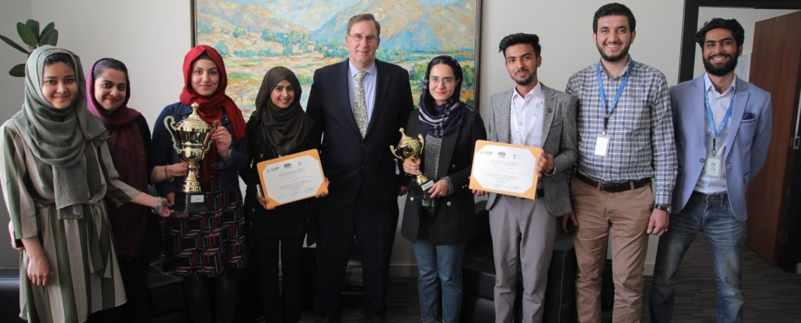 AUAF'S LAW STUDENTS, CHAMPIONS OF  AFGHANISTAN'S NATIONAL VIS MOOT COMPETITION