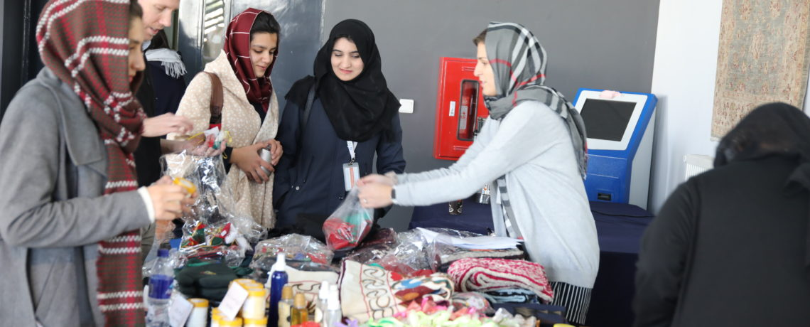 AFGHAN HANDICRAFTS SHOWCASED AT AUAF TO PROMOTE AFGHAN BUSINESSES