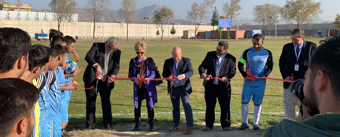 KBR Sponsors Sports Fields and Scholarships at AUAF